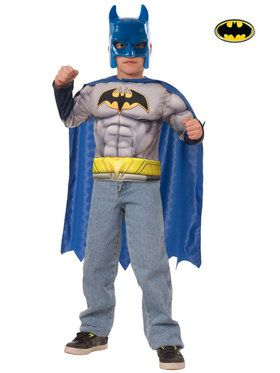 Batman Muscle Chest Shirt Set Boy's Costume
