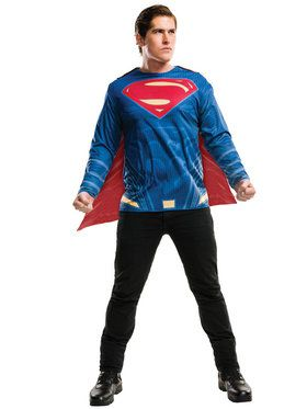 Batman V Superman Dawn of Justice Adult Superman Top Men's Costume