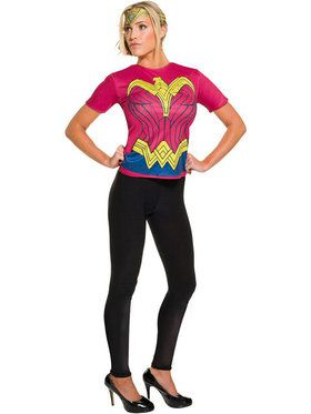 Batman V Superman Dawn of Justice Adult Wonder Woman Top Womens Costume