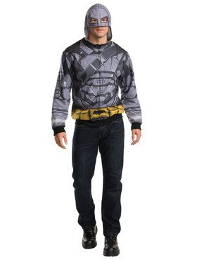 Batman V Superman Dawn of Justice Batman Armored Hoodie Men's Costume