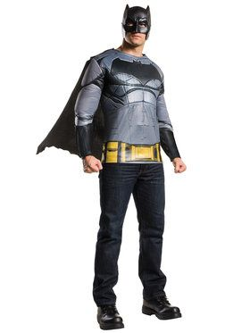 Batman V Superman: Dawn of Justice - Batman Muscle Chest Top Men's Costume