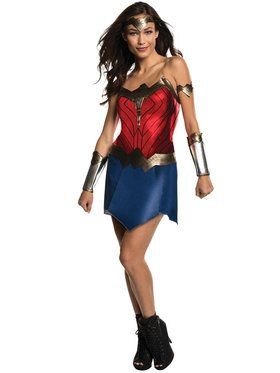 Batman V Superman Dawn of Justice - Classic Wonder Woman Womens Costume  sc 1 st  Wholesale Halloween Costumes & Authentic Wonder Woman Costumes | Wholesale Halloween Costumes