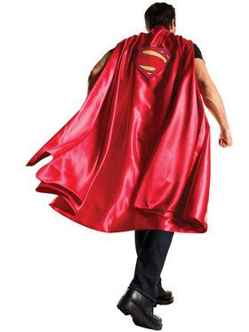 Batman V Superman Dawn of Justice Deluxe Adult Superman Cape Men's Costume