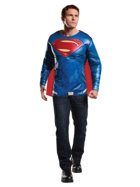 Batman V Superman: Dawn of Justice - Superman Muscle Chest Top Mens Costume