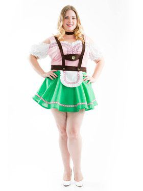 Plus Women's Bavarian Beer Garden Girl Costume