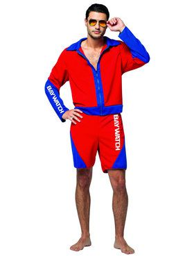 Male Baywatch Lifeguard Costume for Adults