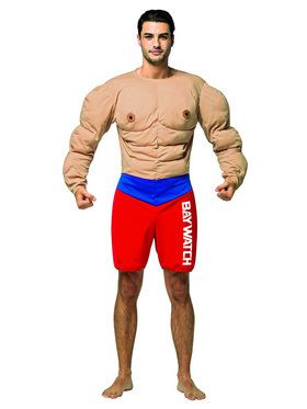 Baywatch Lifeguard Muscle Costume for Adults