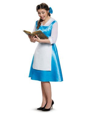 Beauty and the Beast Belle Blue Dress Costume For Adults