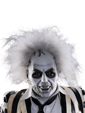Beetlejuice Overhead Latex Mask for Adults