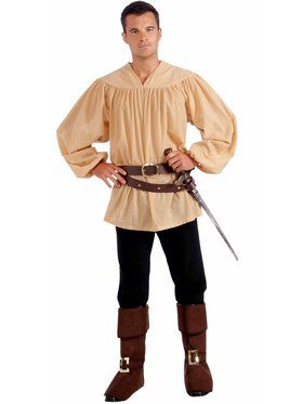 Beige Medieval Men's Shirt