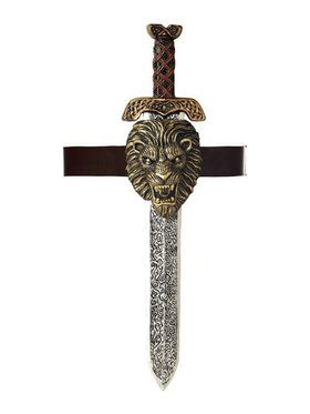 Belt with Roman Sword and Gold Lion Sheath