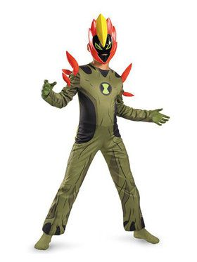 Ben 10 Swampfire Costume for Boys