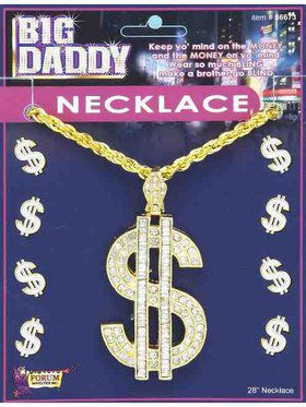 Big Daddy Dollar Sign Necklace Accessory