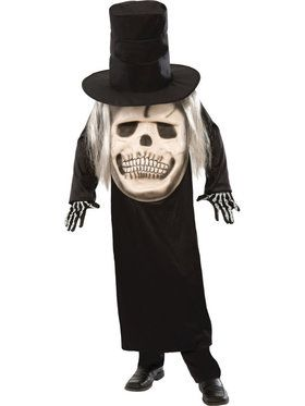 Big Face Grim Reaper Men's Costume