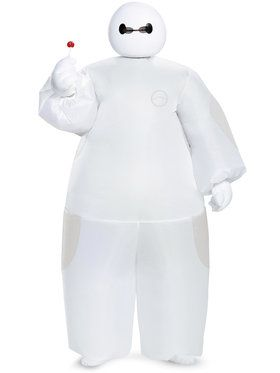 Big Hero 6 White Baymax Inflatable Boy's Costume