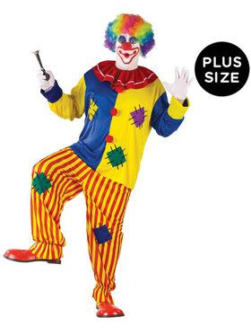 Plus Size Big Top Clown Costume For Adults