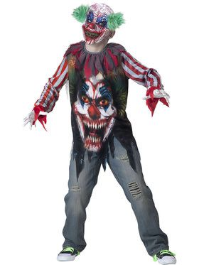 Big Top Terror Boy's Costume