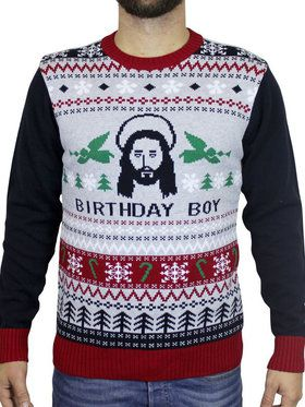 Birthday Boy Ugly Christmas Sweater Men's Costume
