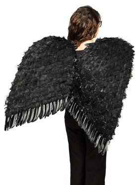 "Black 36"" Feather Wings"