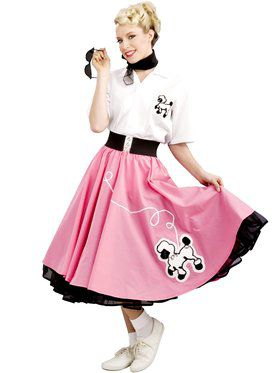 Black 50's Adult Poodle Skirt