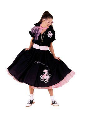 Black and Pink Complete Poodle Outfit Adult Plus Size Costume