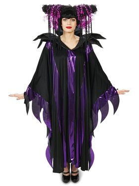 Black and Purple Fantasy Adult Wig for Halloween