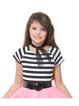 Girl's Striped 50's Top