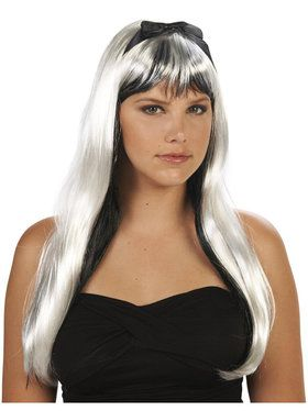 Black and White Adult Wig