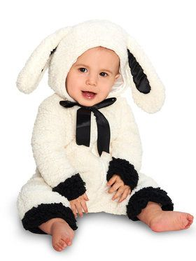 Black and White Baby Lamb Costume For Babies
