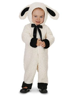 Black and White Baby Lamb Costume For Toddlers