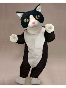 Black and White Cat Mascot Adult's Mascot Costume