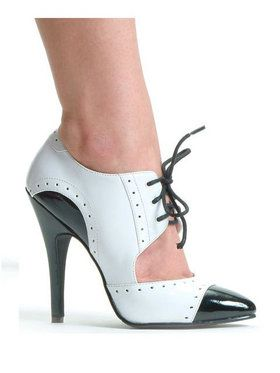 Black and White Gangster Shoe Adult