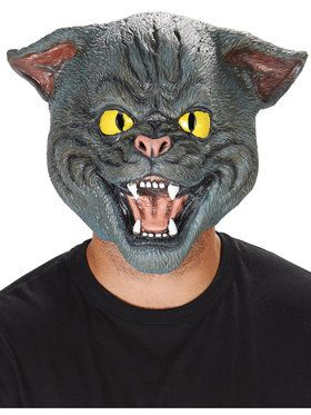 Black Cat Adult Mask for Halloween