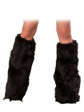 Black Cat Legwarmers Adult