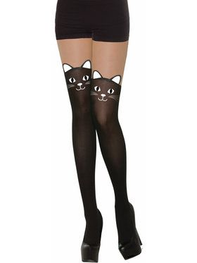 Black Cat Stockings - Adult