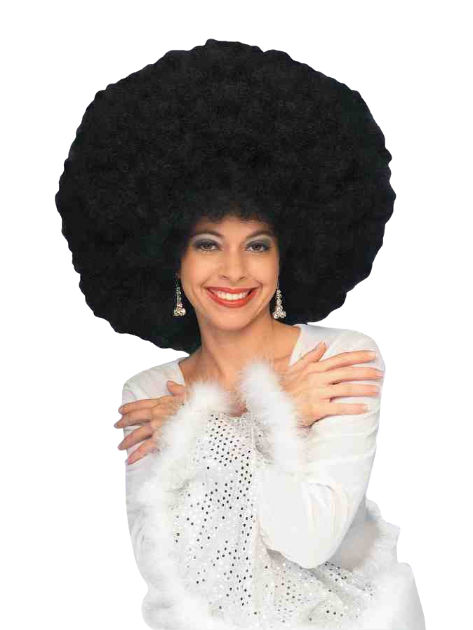 Black Deluxe 70'S Afro Wig
