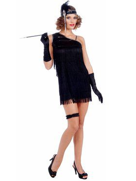 Black Diamond Dazzle Flapper Sexy Costume