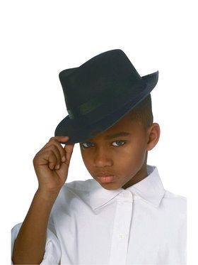 Black Durashape Fedora Hat Kids