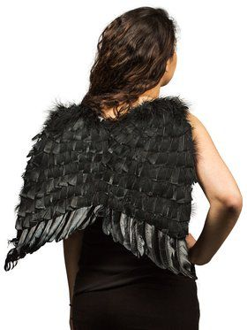Black Economy Feather Wings Adult