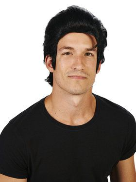 Black Elvis Wig For Adults