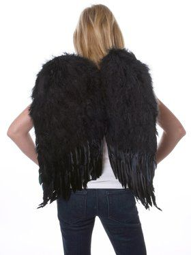 Black Feather Up Womens Wings