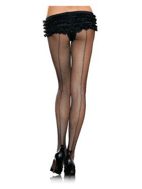 Black Fishnet Pantyhose with Back seam