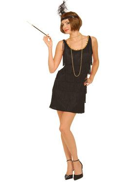 Black Flapper Costume For Adults
