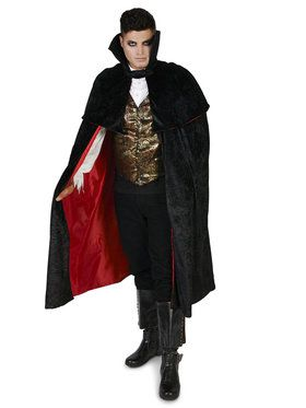Black Gothic Vampire Male Costume For Adults