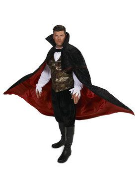 Plus Size Black Gothic Vampire Male Costume For Adults