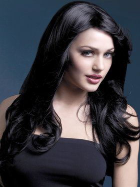 Black High Temperature Resistant Nicole Wig