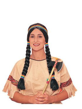 Black Indian Maiden Wig Adult