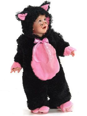 Girl's Black and Pink Kitty Child Costume