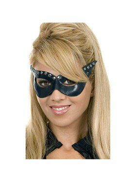 Women's Black Leather Mask