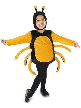 Black Orange Spider Costume For Children